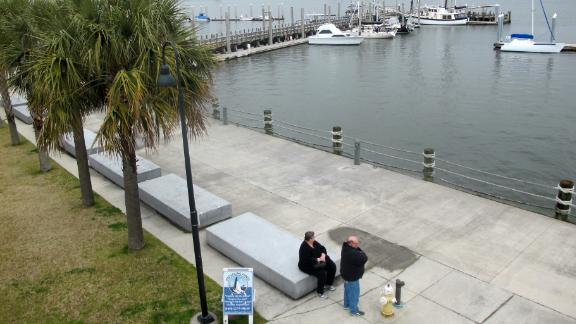 This 2015 photo shows the location where Gadsden's Wharf once stood