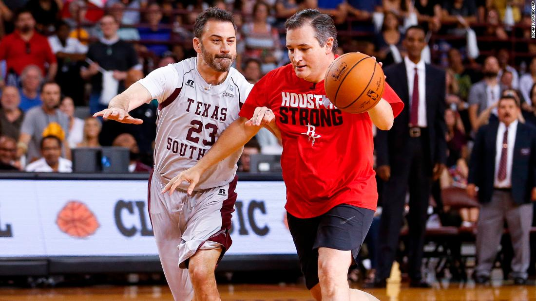 Cruz and Kimmel are better at raising money than playing basketball