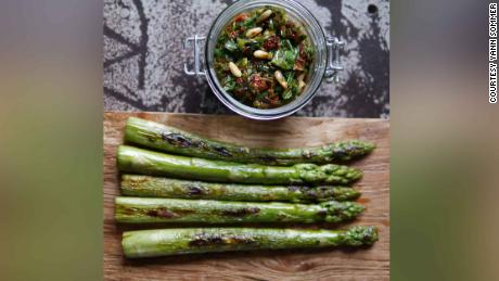 Yann Sommer's cooking blog is full of healthy eating recipes such as this asparagus dish which is one of his favorites.