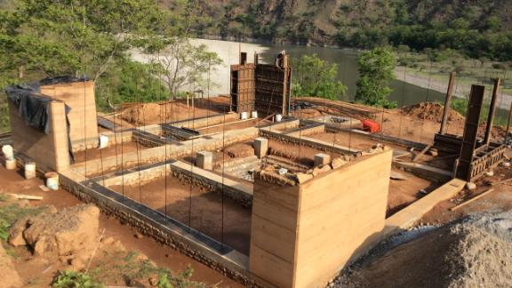 Eventually, Vertical University hopes to consist of six different campuses, all in different climatic zones, to teach students about Nepal's various landscapes. Here, the Kurule Tenupa campus is under construction.