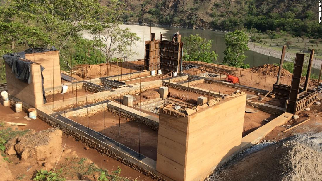 Eventually, Vertical University hopes to consist of six different campuses, all in different climatic zones, to teach students about Nepal's various landscapes. Here, the Kurule Tenupa campus is under construction.<br />