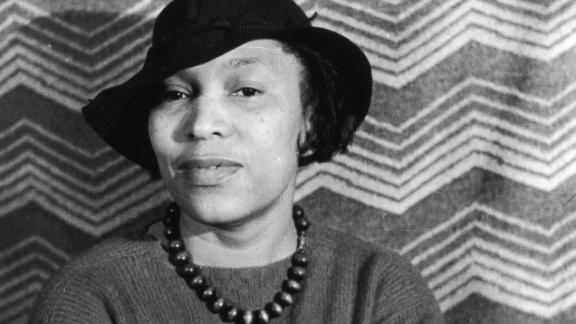 Portrait of author Zora Neale Hurston, circa 1940s.
