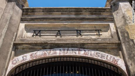 The entrance to the  archaic Slave Mart in Charleston, believed to be the site of the  terminal slave auction facility in South Carolina