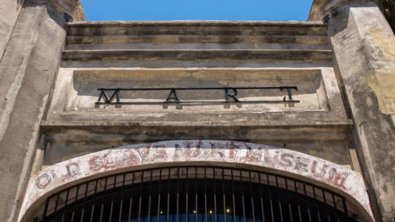 The entrance to the Old Slave Mart in Charleston, believed to be the site of the last slave auction facility in South Carolina