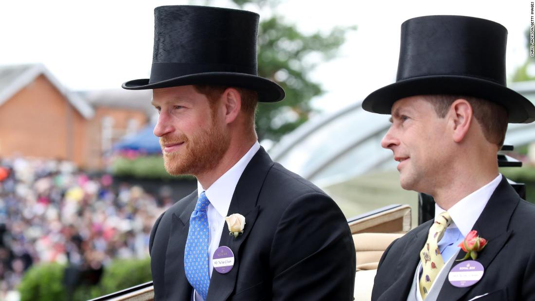 Prince Harry, the Duke of Sussex, sat next to his uncle, the Earl of Wessex, in the third carriage in the royal procession. During the five-day event, top hats and tails remain compulsory in parts of the course.