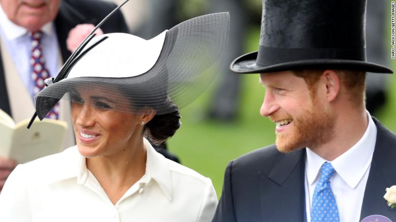 Meghan, Duchess of Sussex and Prince Harry, Duke of Sussex attend Royal Ascot Day 1 at Ascot Racecourse.