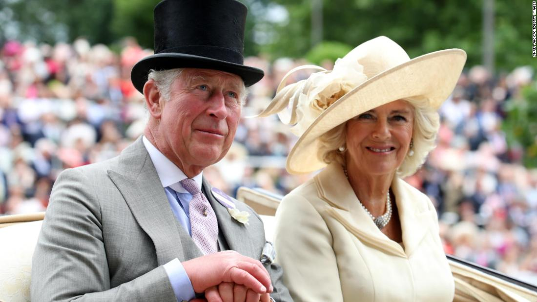 Prince Charles, the Prince of Wales, and Camilla, Duchess of Cornwall, rode in the second carriage during the royal procession.