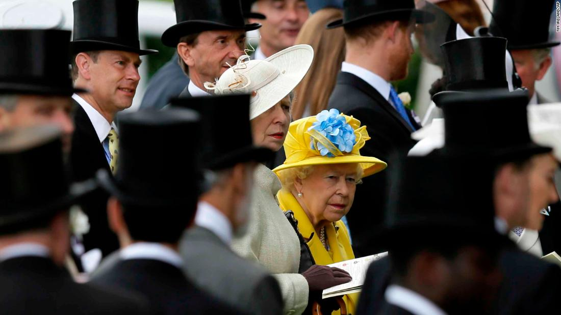This year Queen Elizabeth wore a bright yellow outfit for the first day of Royal Ascot.