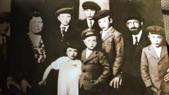Rosalyn Haber (third from the left) with her family before they were transported to Auschwitz death camp in 1944.