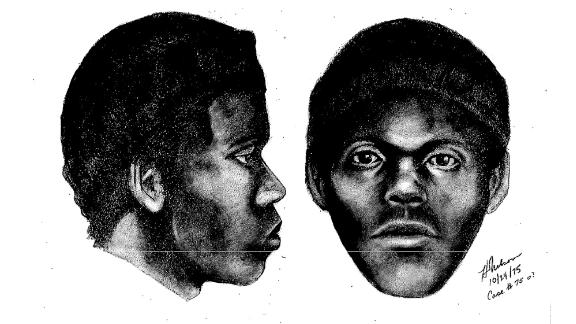 """A police sketch of """"The Doodler"""" released by the San Francisco police department in 1975."""