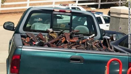 Some of the guns found in Agua Dulce.
