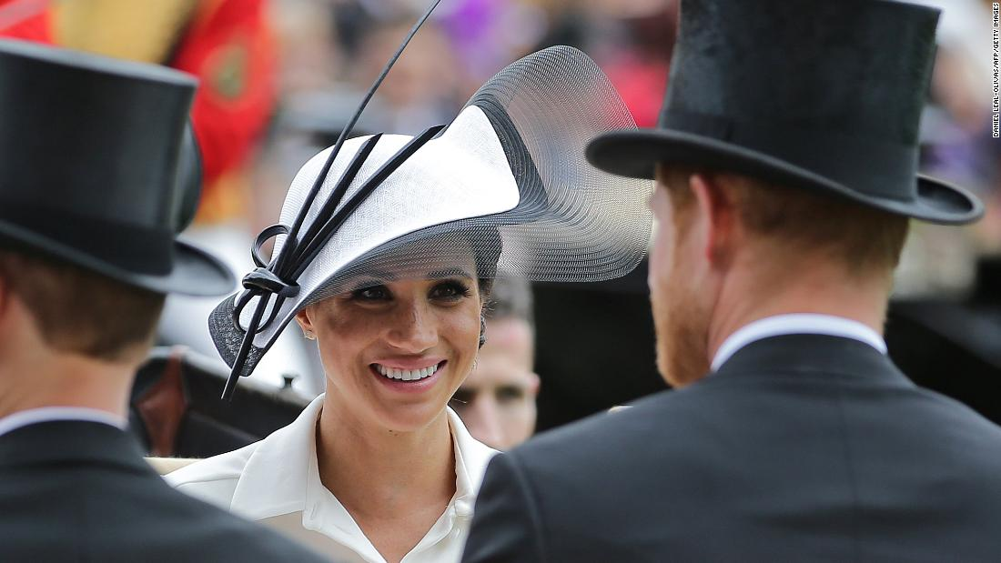 The Duchess of Sussex opted for a cream dress. Royal Ascot is known for high fashion, designer hats and pageantry. Horse racing has been held at the famous Berkshire course since 1711.
