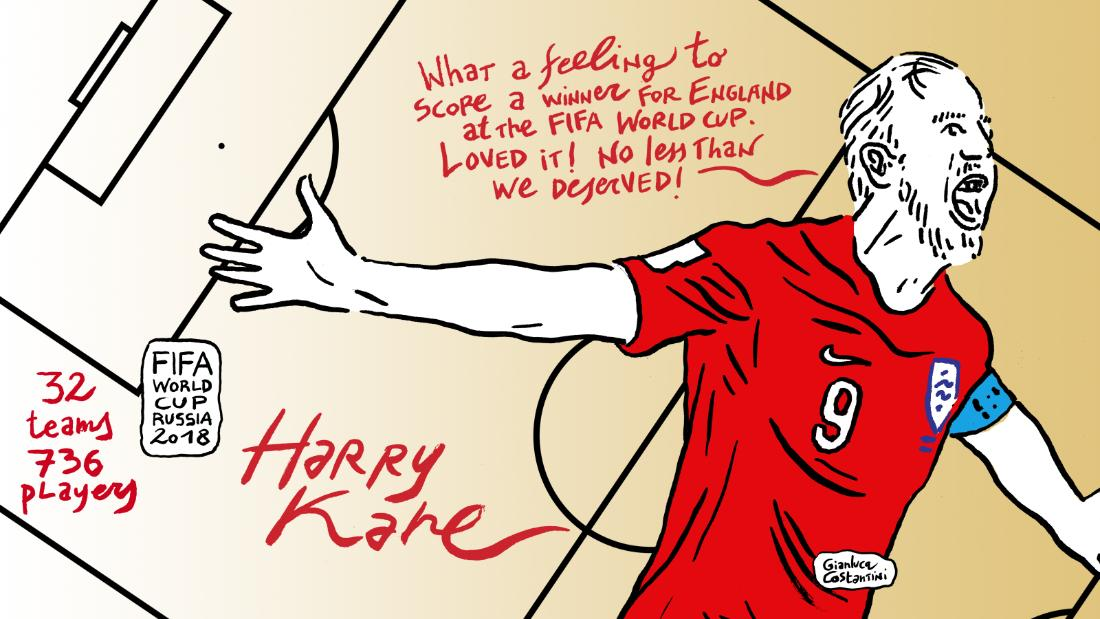 Tottenham Hotspur striker Harry Kane scored his first goal at a World Cup finals in England's 2-1 win over Tunisia. After getting his first he then headed in England's winner.