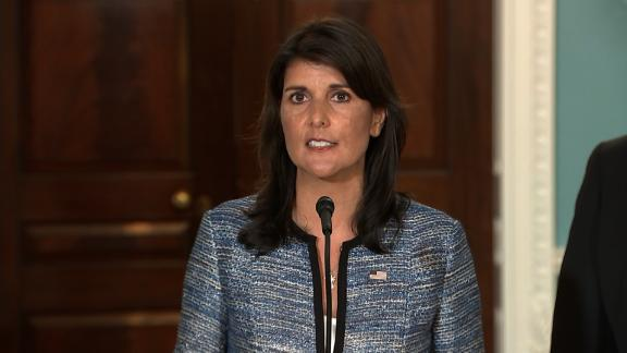 Last year, the United States made it clear that we would not accept the continued existence of Agenda Item 7, which singles out Israel in a way that no other country is singled out. Earlier this year, as it has in previous years, the Human Rights Council passed five resolutions against Israel - more than the number passed against North Korea, Iran, and Syria combined.