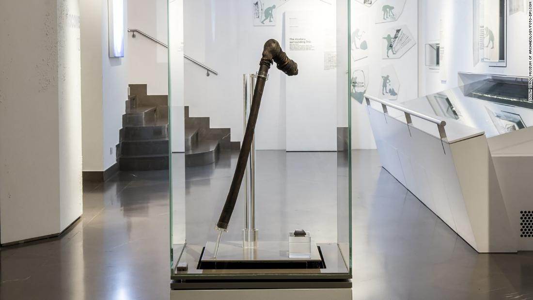 Otzi's weapons, tools and clothing are on display at the museum, including his copper ax. It is the only one like it in the world.