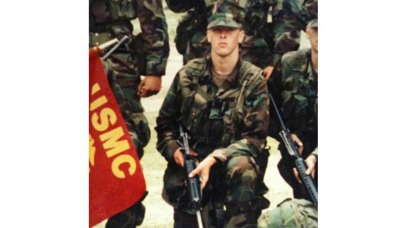 Justin Blazejewski as a young Marine in early 2000.