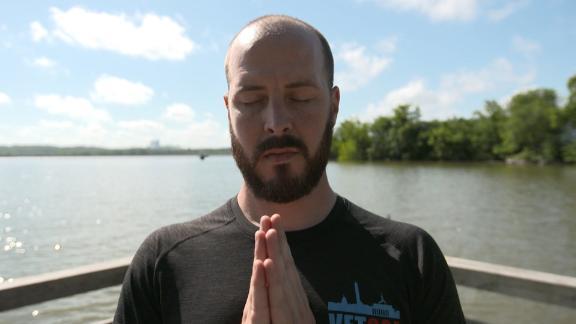 Justin Blazejewski began practicing yoga in 2008.