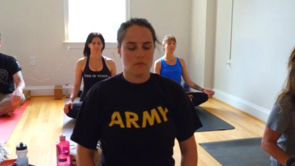 VEToga is a yoga program designed to build a military community around a shared yoga practice.