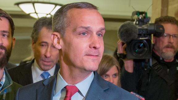 Former Trump campaign manager Corey Lewandowski is seen leaving the House Intelligence Committee in March 2018 at the U.S. Capitol in Washington, DC. (Photo by Tasos Katopodis/Getty Images)