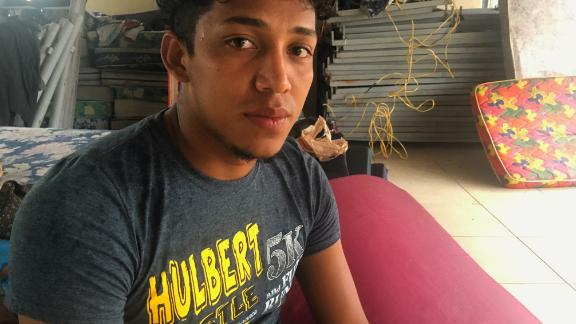 Christian Ortiz says he fled Honduras after a gang threatened to kill his family if he didn't join.