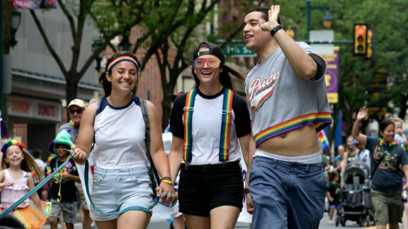 Revelers at the 30th annual Pride Parade and Festival in Philadelphia on June 10.