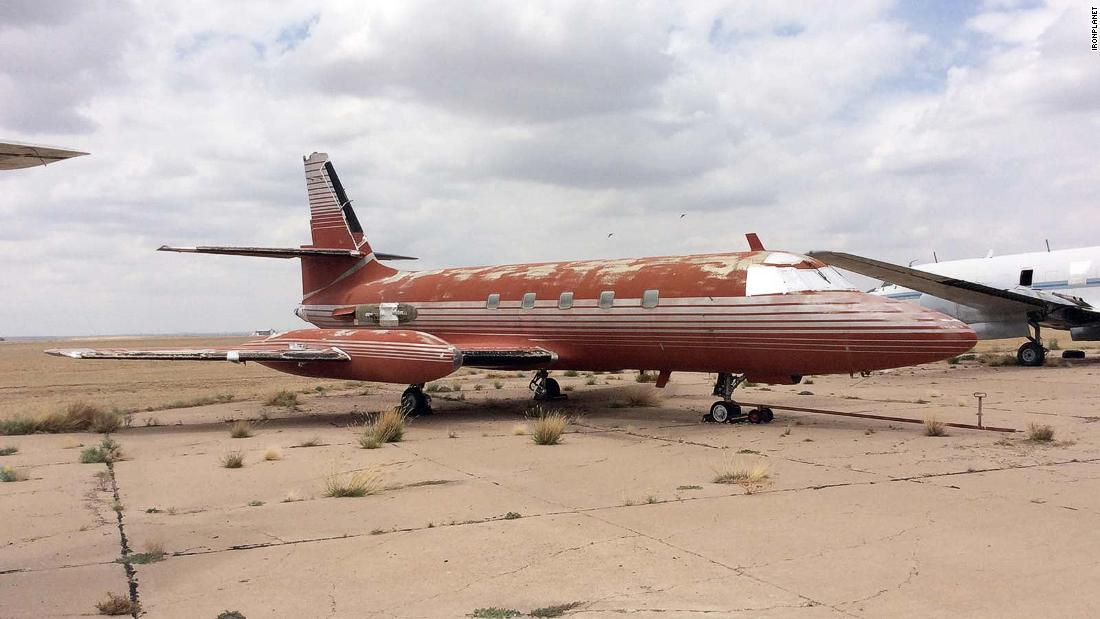 Elvis Presley's abandoned private jet is for sale