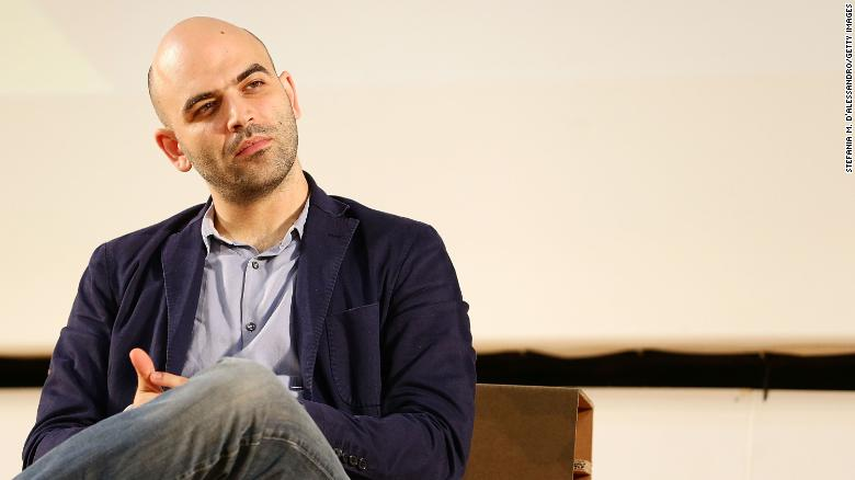 GIFFONI VALLE PIANA, ITALY - JULY 27:  Roberto Saviano attends 2013 Giffoni Film Festival press conference on July 27, 2013 in Giffoni Valle Piana, Italy.  (Photo by Stefania D'Alessandro/Getty Images)
