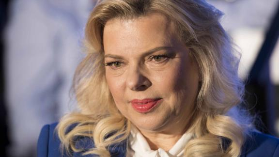 Sara Netanyahu, the wife of Israeli Prime Minister, attends a ceremony marking the 50th anniversary of the 1967 Israeli-Arab War, in the Old City of Jerusalem on May 21, 2017.  / AFP PHOTO / EPA POOL / ABIR SULTAN        (Photo credit should read ABIR SULTAN/AFP/Getty Images)