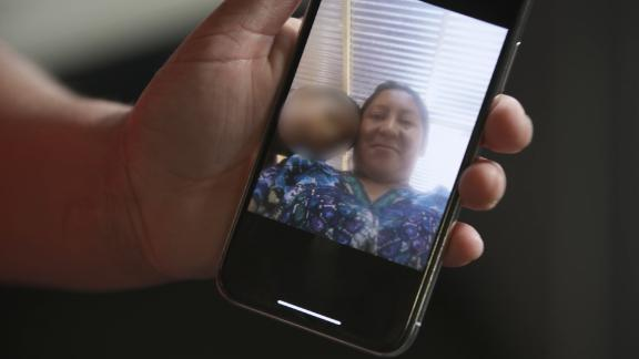 Mejia says she took this selfie of her and her son at their church in Guatemala.
