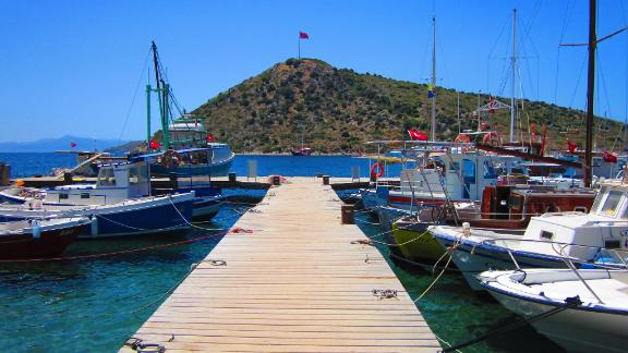 Turkey:  There are quaint harbors such as Gumusluk (pictured), small bays with wooden jetties fronting local restaurants such as Cokertme or the coves of Gocek, and remote inlets such as Amazon Creek with an idyllic, away-from-it-all feel.