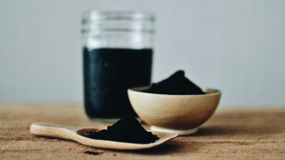 Activated charcoal is used in emergency medicine; it binds to poison in the gastrointestinal tract.