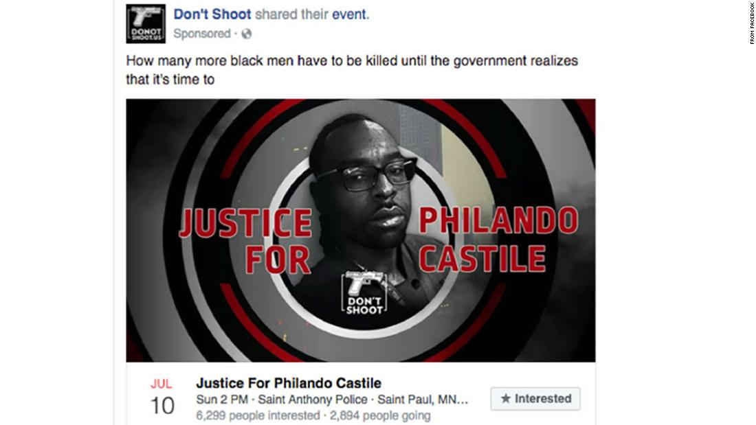 """Hours after his death, """"Don't Shoot"""" Facebook group started promoting a """"Justice for Philando Castile"""" event"""