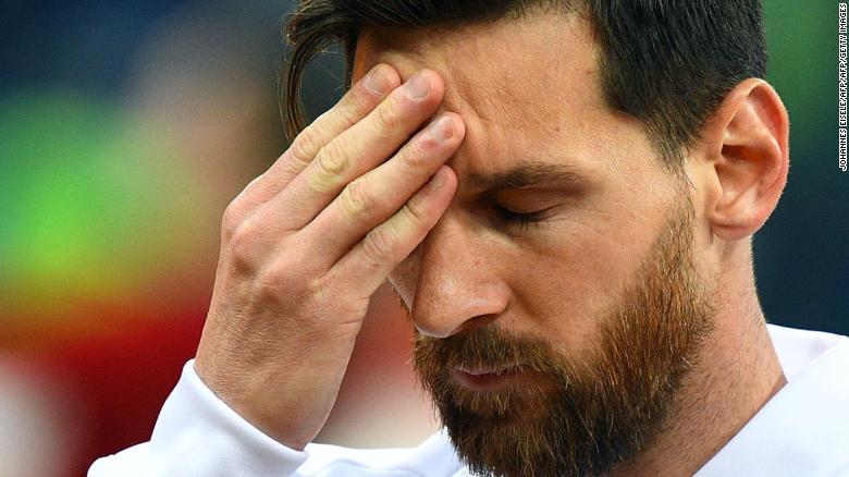 Lionel Messi struggled to make an impact against Croatia.