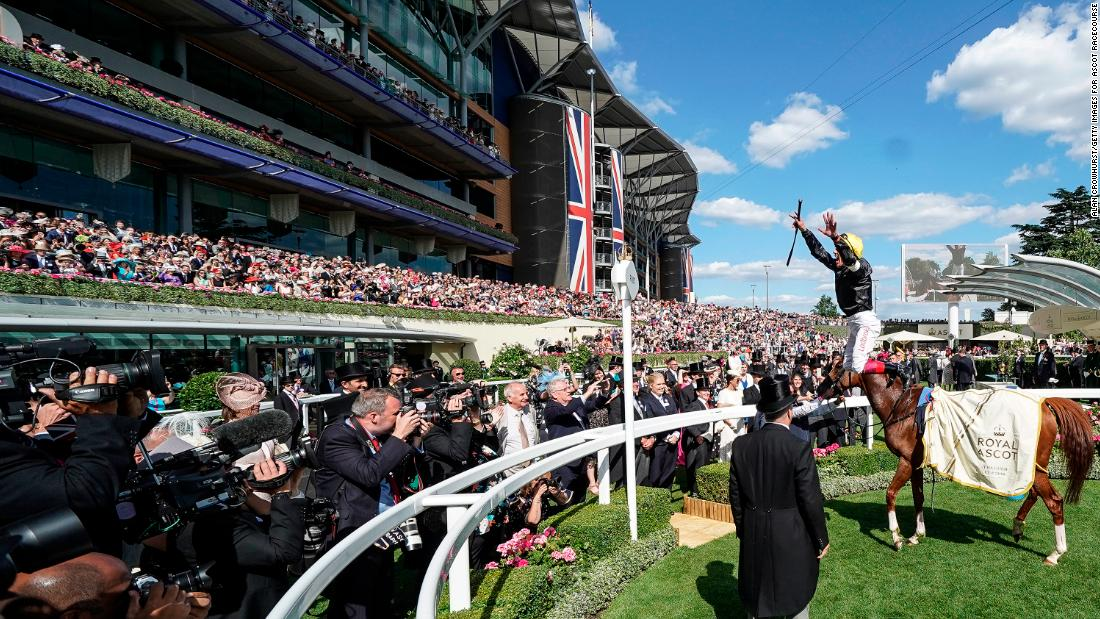 Veteran Dettori won the feature Ascot Gold Cup on Stradivarius on day three -- Ladies' Day -- at Royal Ascot. It was the Italian's sixth Ascot Gold Cup victory and 60th win at the meeting in all.