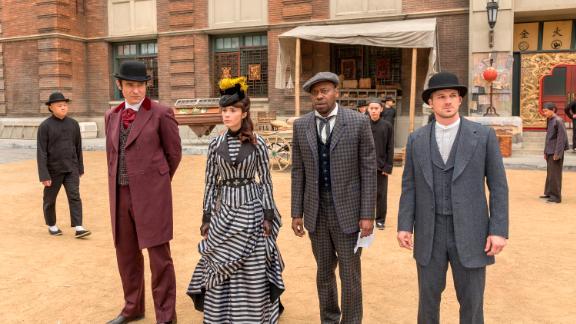 Goran Visnjic, Abigail Spencer, Malcolm Barrett, and Matt Lanter in an episode of NBC