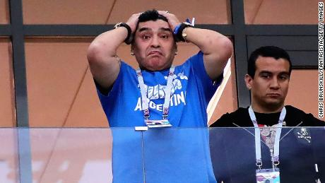 c205377d5fb Diego Maradona's initially optimistic disposition quickly turned as  Argentina lost 3-