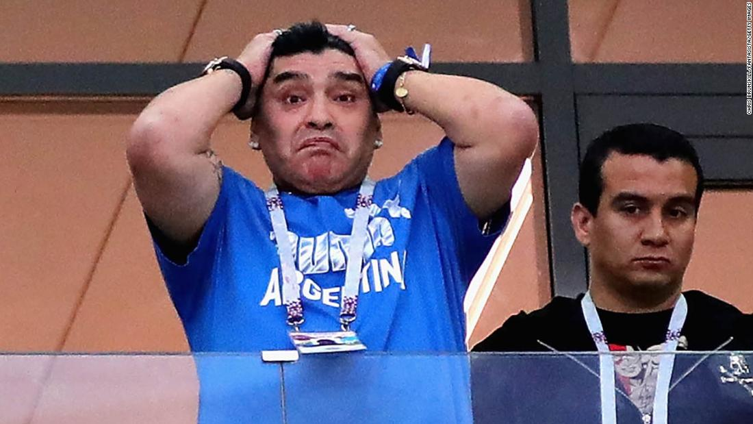 Maradona cries for Argentina as media turns on team