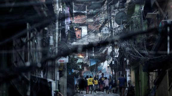 Rio de Janeiro, Brazil: Residents of Rocinha, Rio
