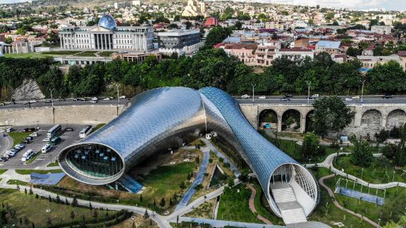 Tbilisi, Georgia: A drone captured this image of the Georgian capital