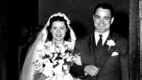 Rosanne and Karle Seydel on their wedding day, April 24, 1948.
