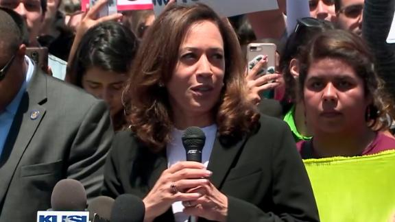 "California Sen. Kamala Harris called a detention facility near San Diego a ""prison."""