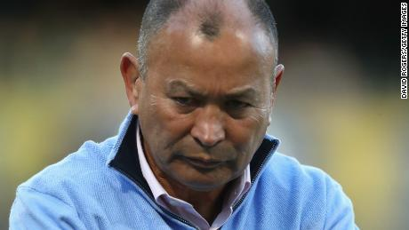 BLOEMFONTEIN, SOUTH AFRICA - JUNE 16:  England head coach Eddie Jones, looks on in the warm up during the second test match between South Africa and England at Toyota Stadium on June 16, 2018 in Bloemfontein, South Africa.  (Photo by David Rogers/Getty Images)