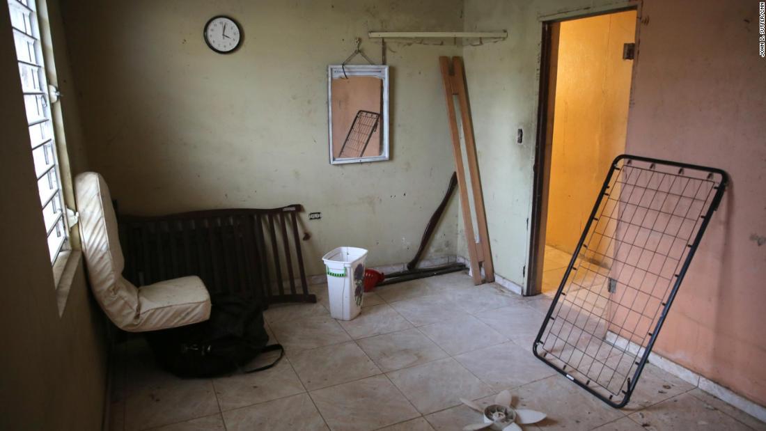 Ramon Diaz Garcia's room in Toa Baja, Puerto Rico, is hauntingly empty.