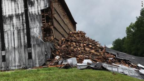 bourbon warehouse collapse