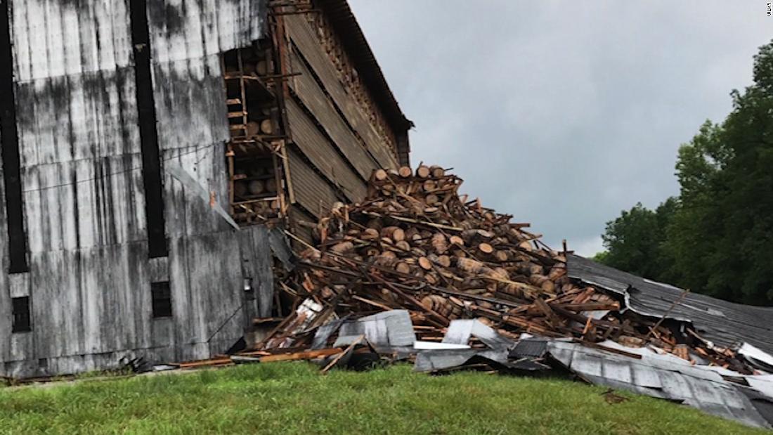9,000 barrels of bourbon fall in Kentucky distillery building collapse