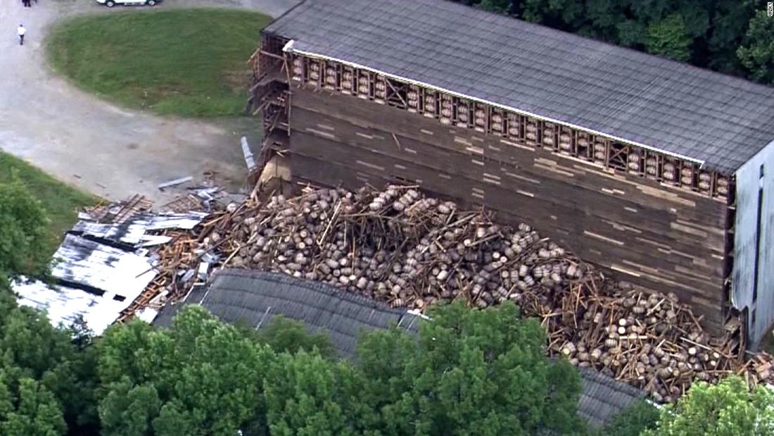 000 barrels of bourbon fall in Kentucky distillery building collapse - CNN