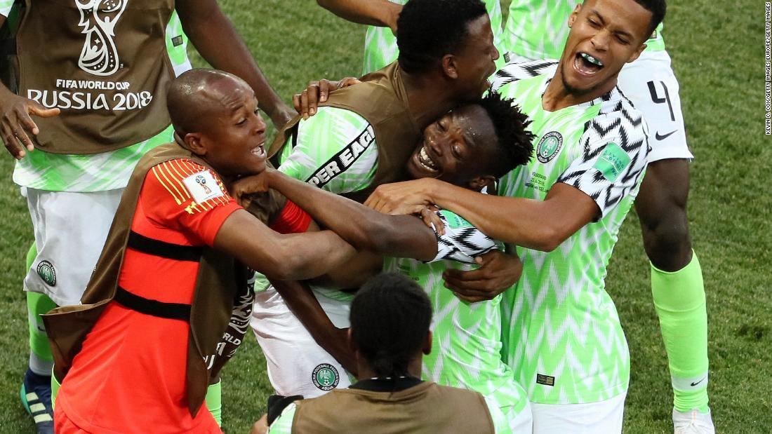 Musa scores twice as Nigeria beats Iceland