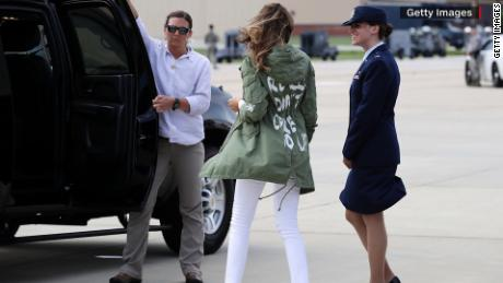Melania Trump grow up jacket Kirsten Powers ac_00001108