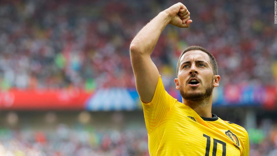 Captain Eden Hazard also scored two for Belgium.