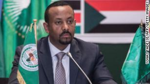Ethiopian Prime Minister Abiy Ahmed attends a conference this week.